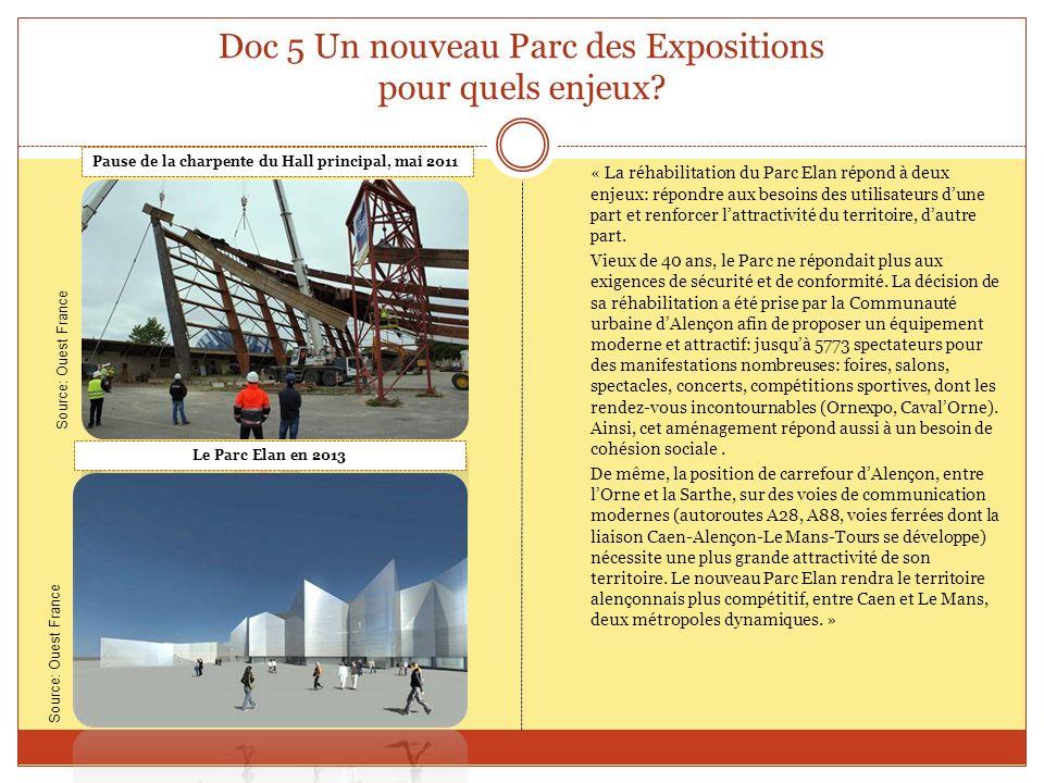 Doc 5 Un nouveau Parc des Expositions pour quels enjeux