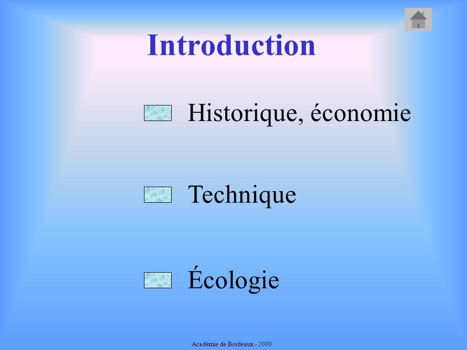 Introduction Historique, économie Technique Écologie