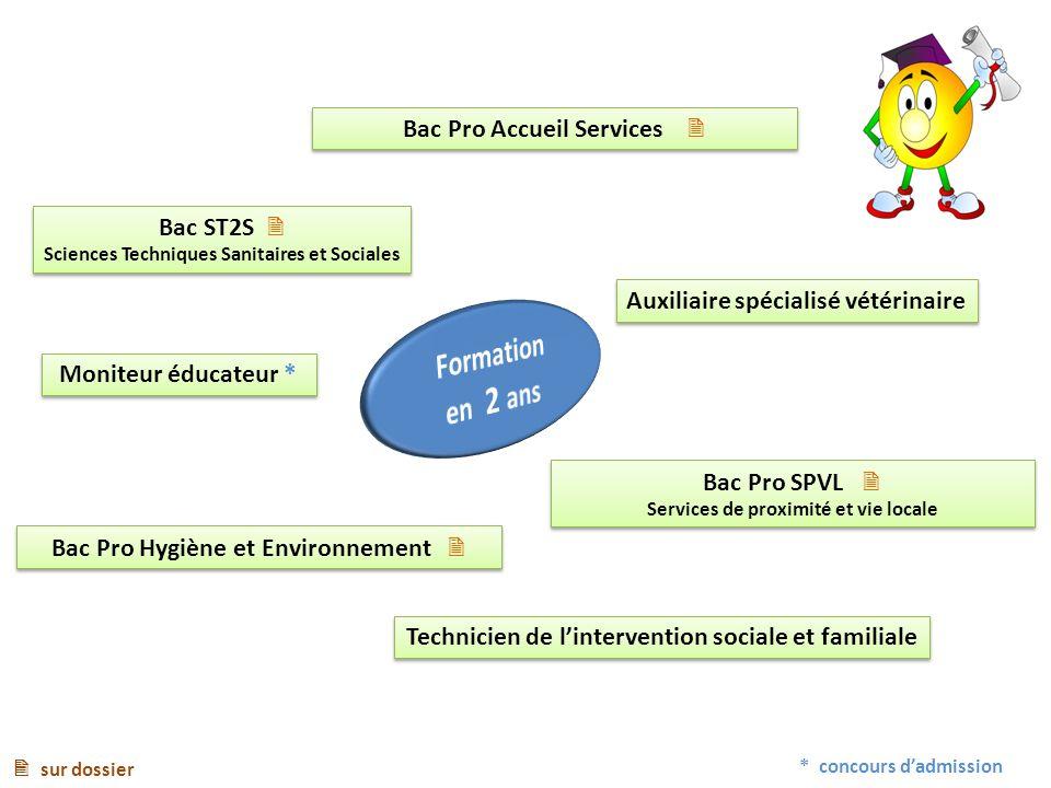 Formation en 2 ans Bac Pro Accueil Services  Bac ST2S 