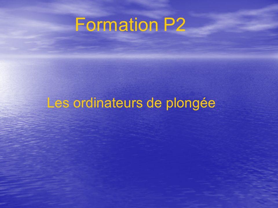 Formation P2 Les ordinateurs de plongée