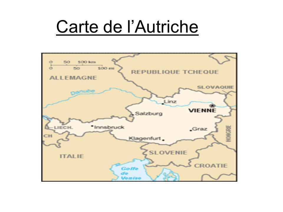 Carte de l'Autriche
