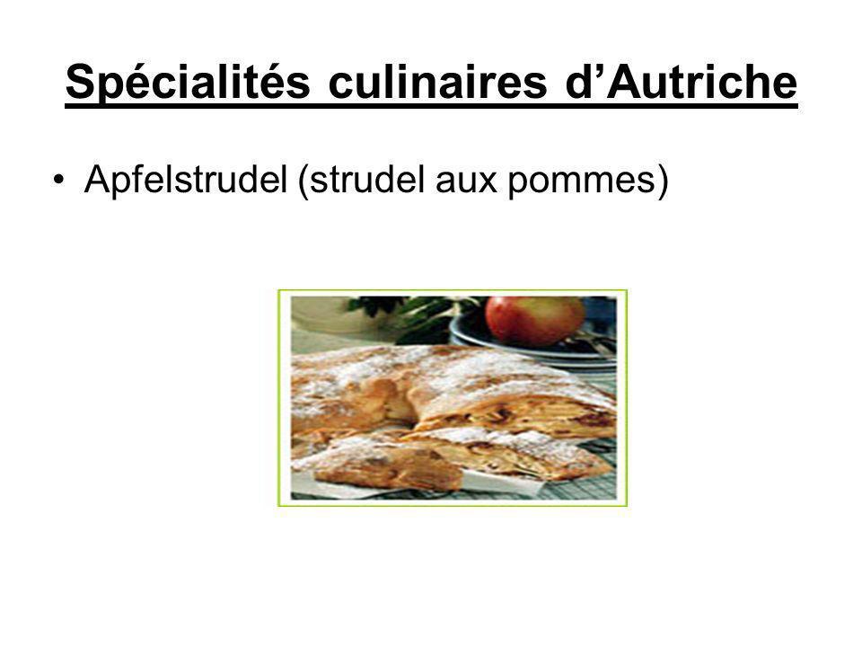 Spécialités culinaires d'Autriche