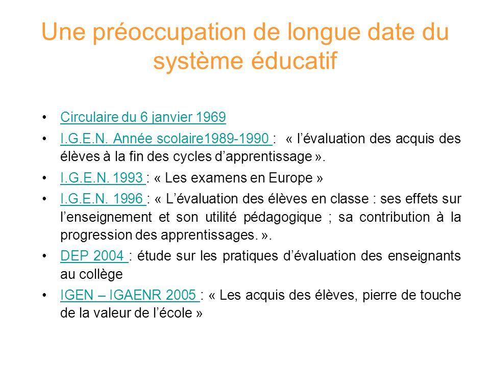 Une préoccupation de longue date du système éducatif