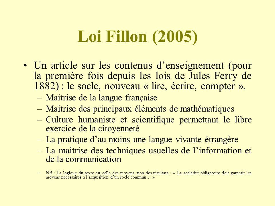 Loi Fillon (2005)
