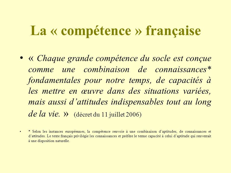 La « compétence » française
