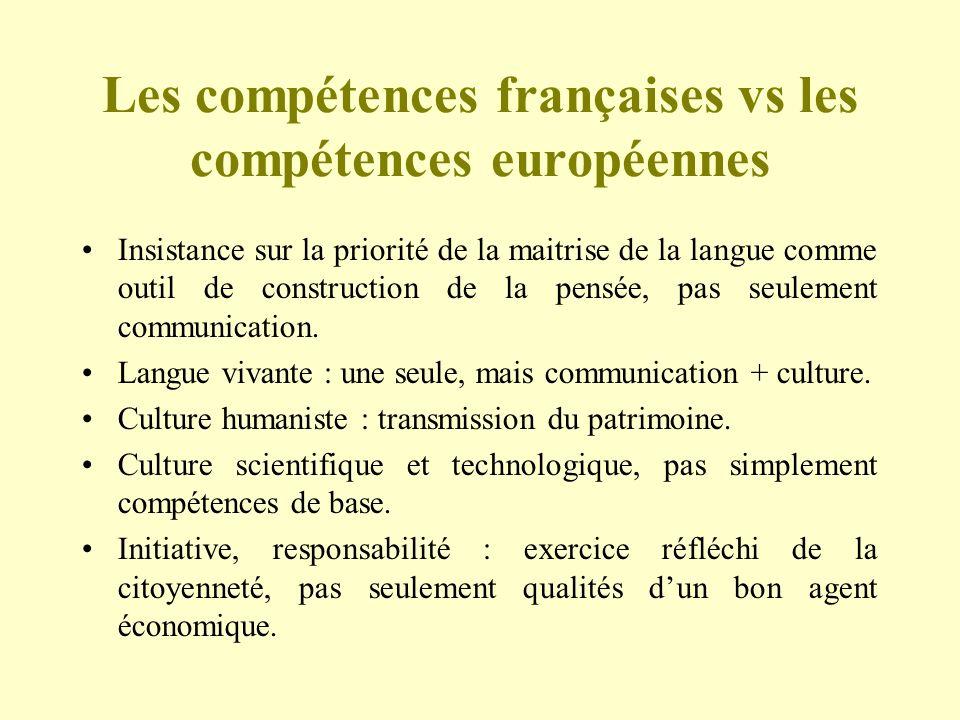 Les compétences françaises vs les compétences européennes
