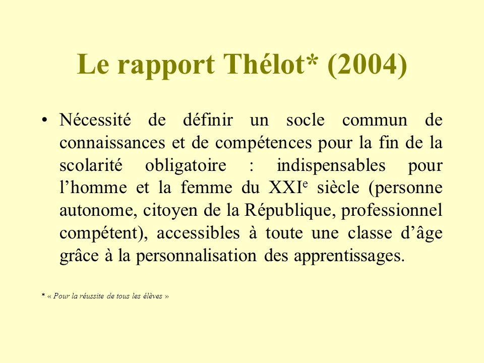 Le rapport Thélot* (2004)
