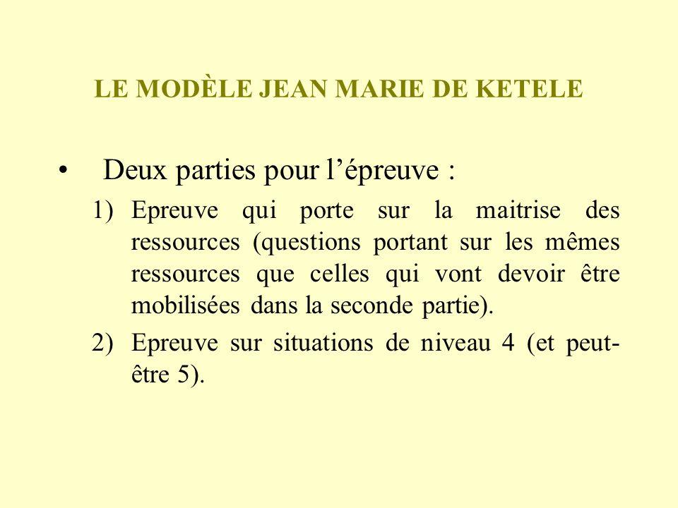 LE MODÈLE JEAN MARIE DE KETELE