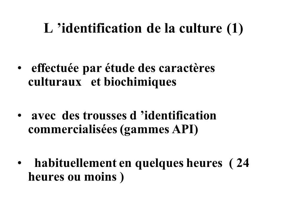 L 'identification de la culture (1)