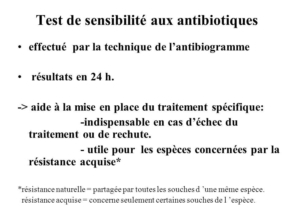 Test de sensibilité aux antibiotiques