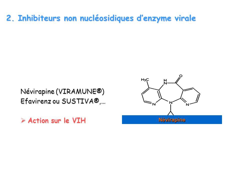 2. Inhibiteurs non nucléosidiques d'enzyme virale