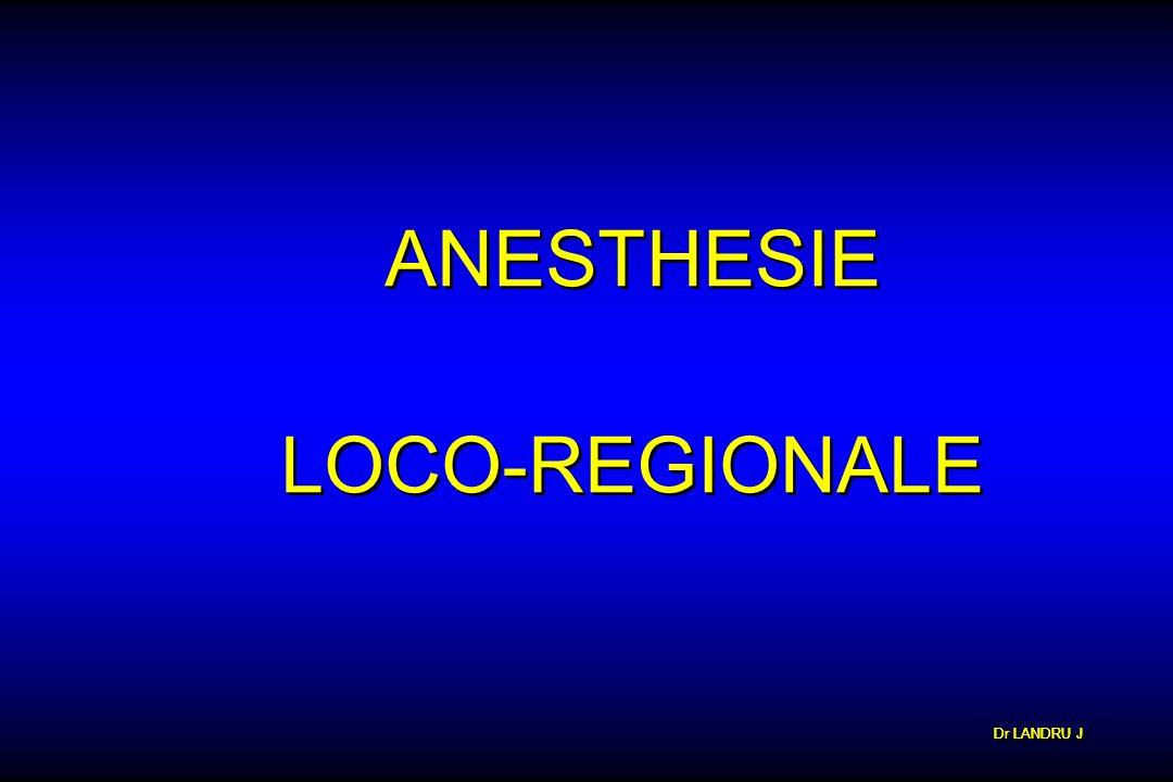 ANESTHESIE LOCO-REGIONALE Dr LANDRU J