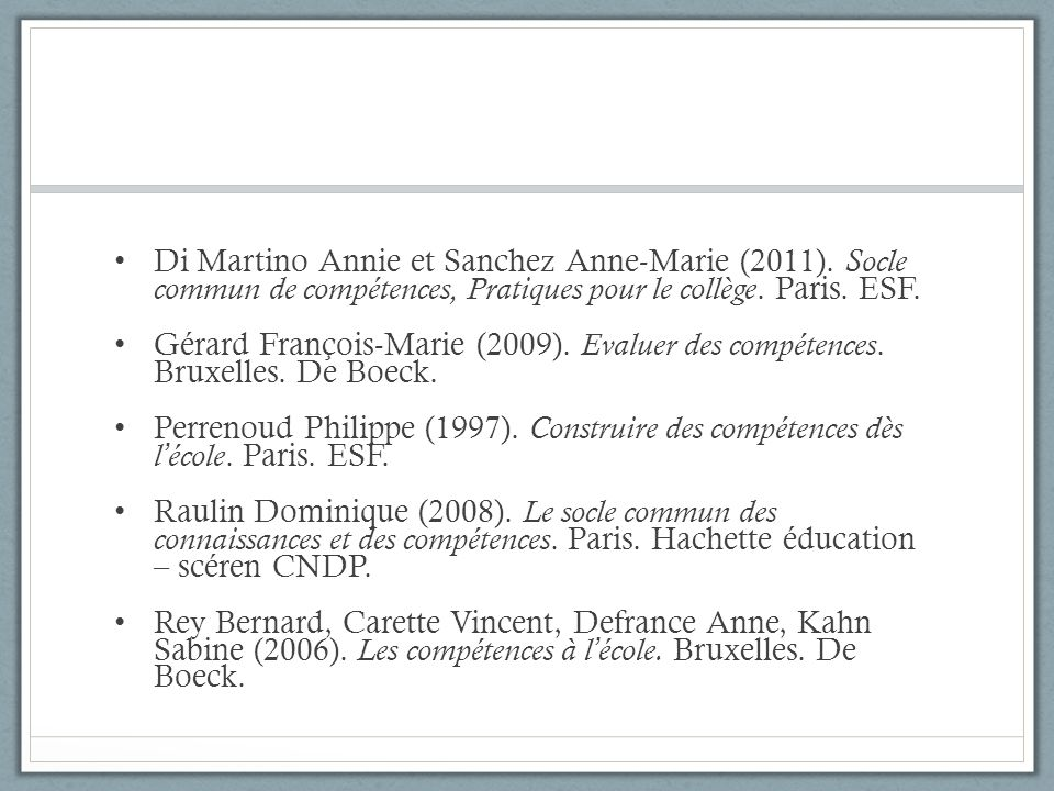 Di Martino Annie et Sanchez Anne-Marie (2011)