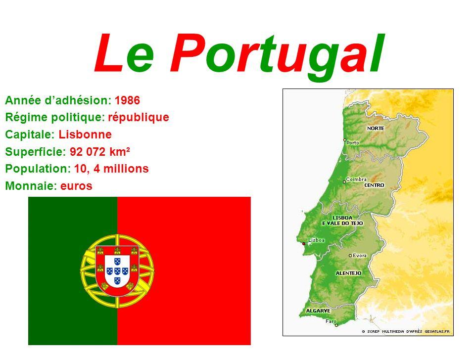 Le Portugal Année d'adhésion: 1986 Régime politique: république