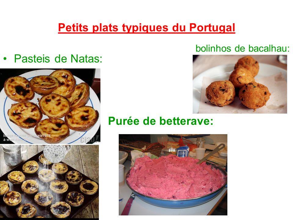 Petits plats typiques du Portugal