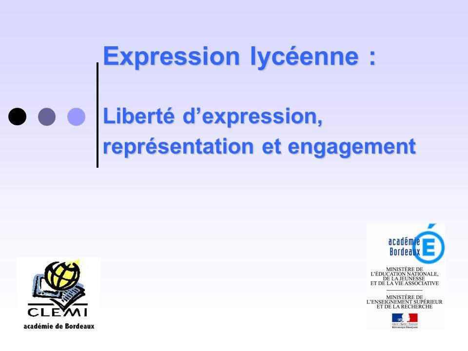 Expression lycéenne : Liberté d'expression, représentation et engagement