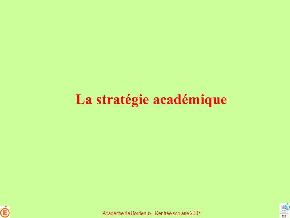La stratégie académique
