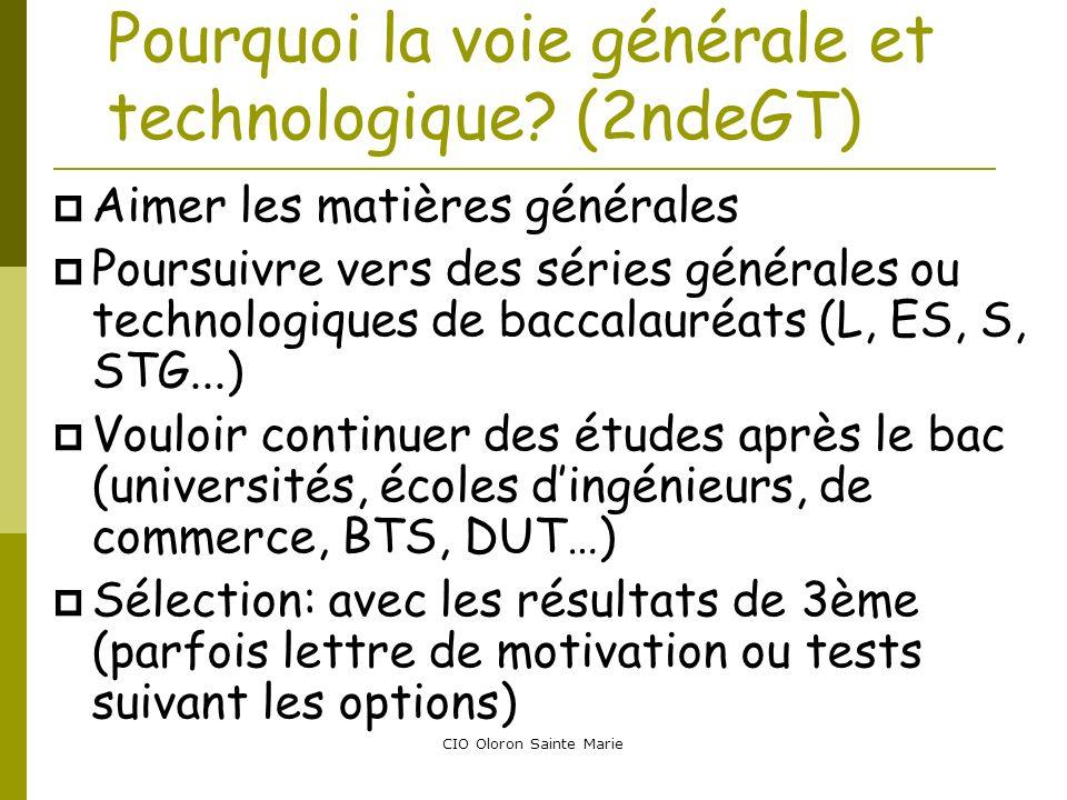 Pourquoi la voie générale et technologique (2ndeGT)