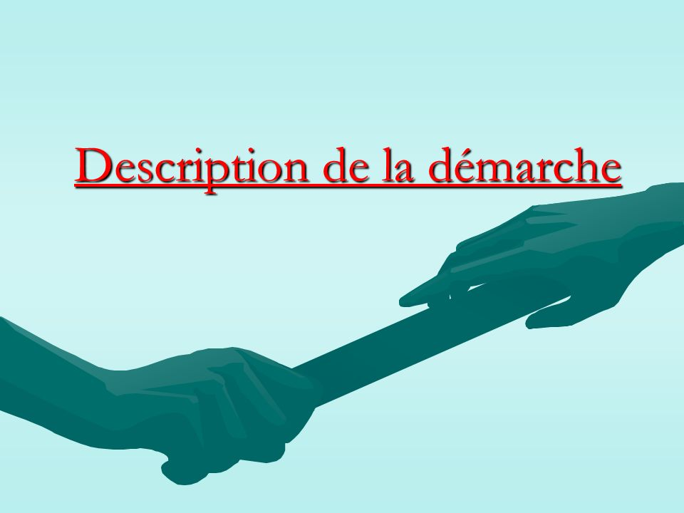 Description de la démarche