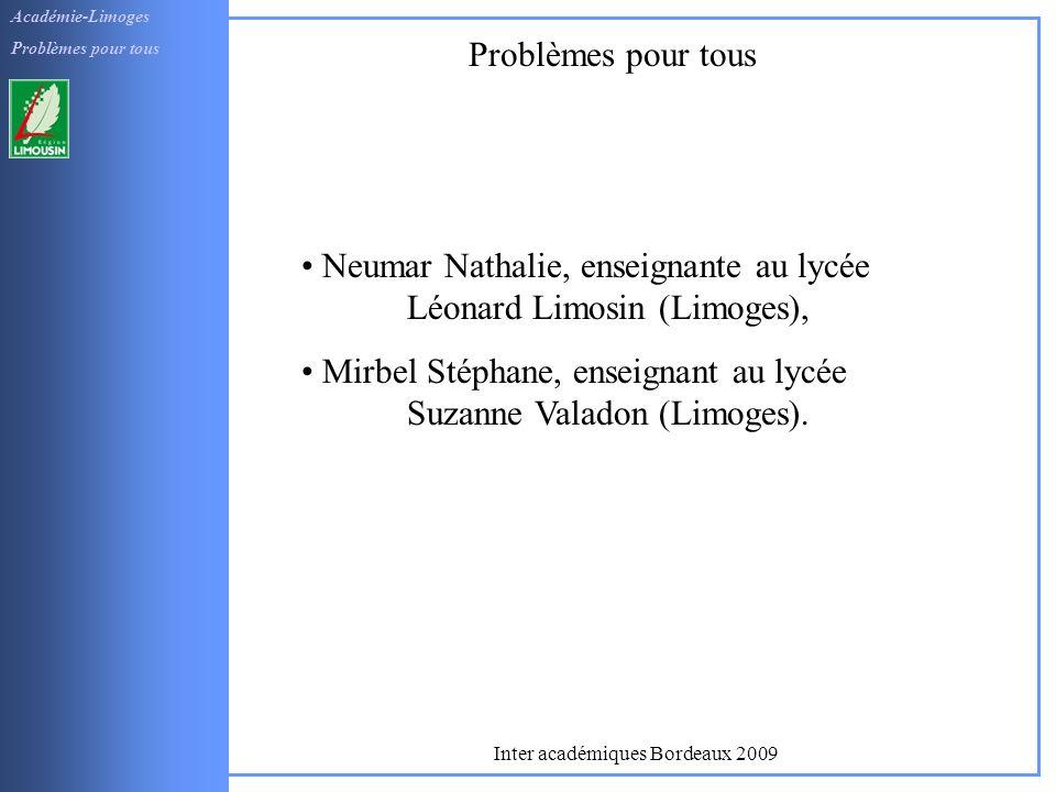 Inter académiques Bordeaux 2009