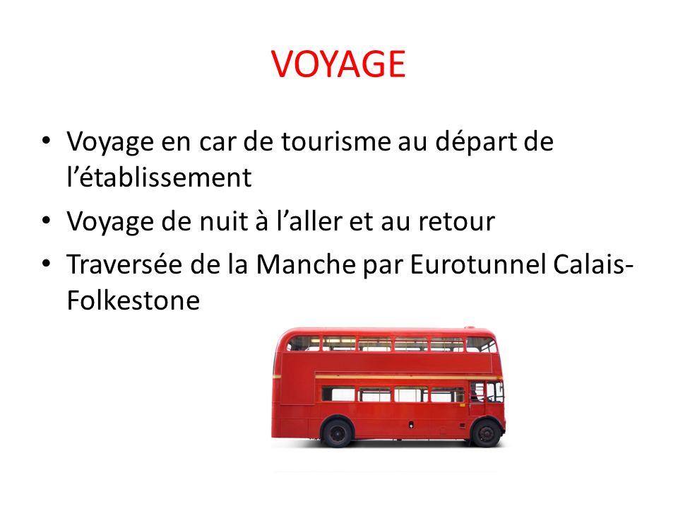 VOYAGE Voyage en car de tourisme au départ de l'établissement