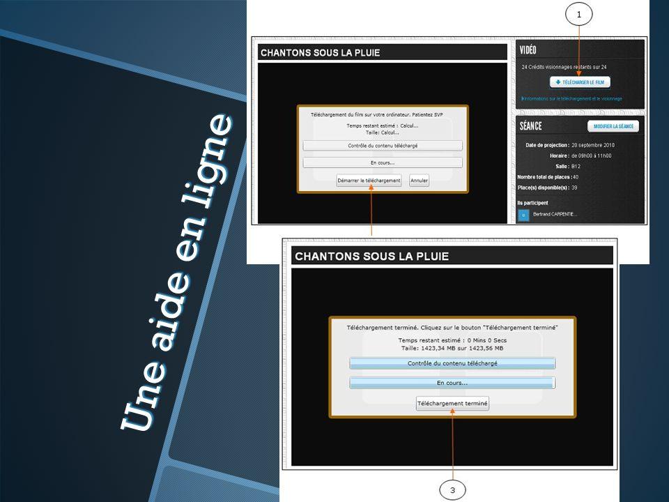 Une aide en ligne Naviguer en ligne pour donner quelques exemples