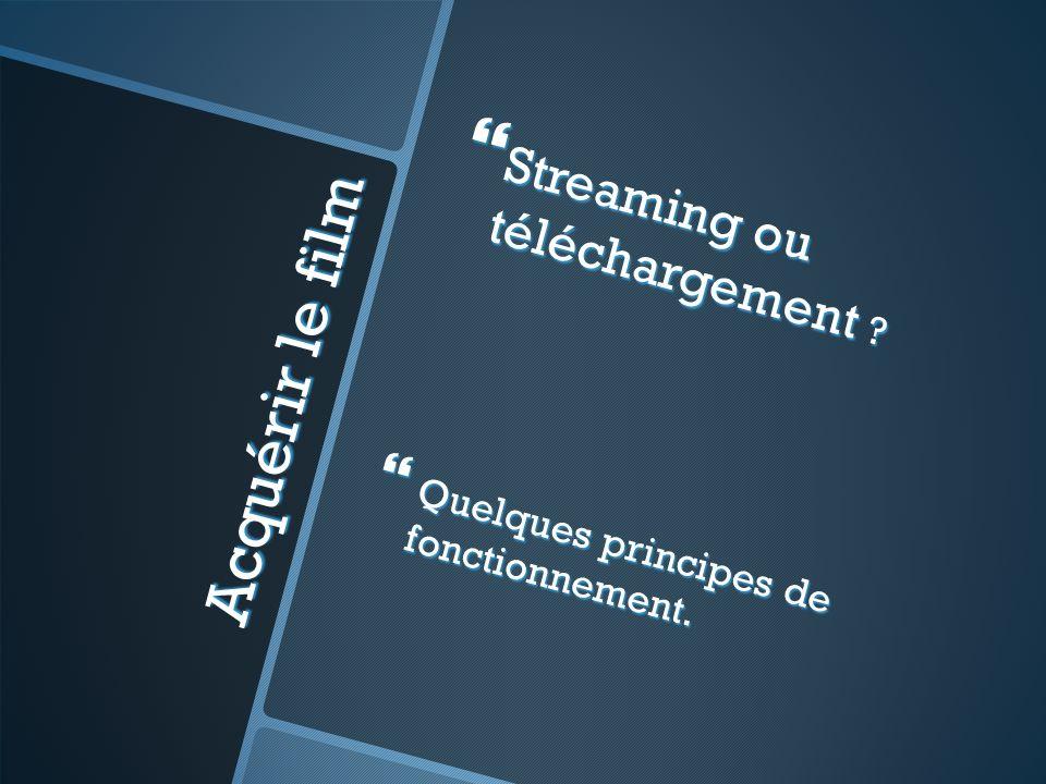 Acquérir le film Streaming ou téléchargement