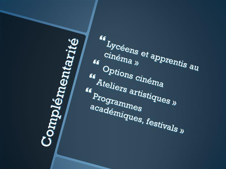 Complémentarité Lycéens et apprentis au cinéma » Options cinéma
