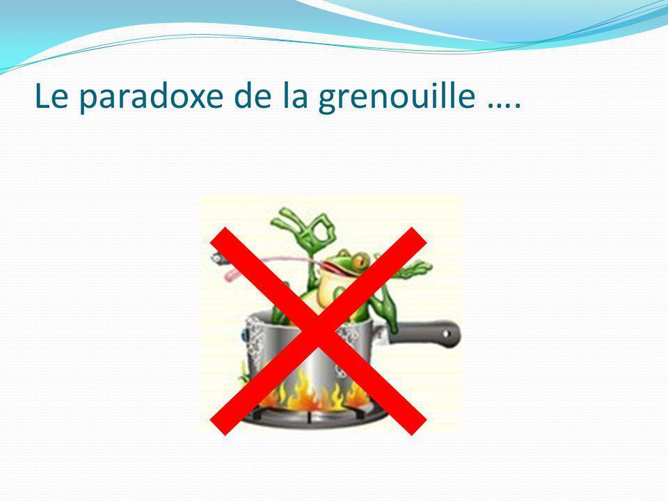 Le paradoxe de la grenouille ….