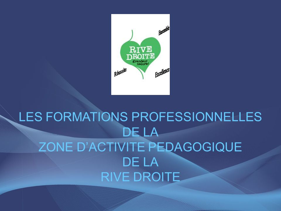 LES FORMATIONS PROFESSIONNELLES DE LA ZONE D'ACTIVITE PEDAGOGIQUE