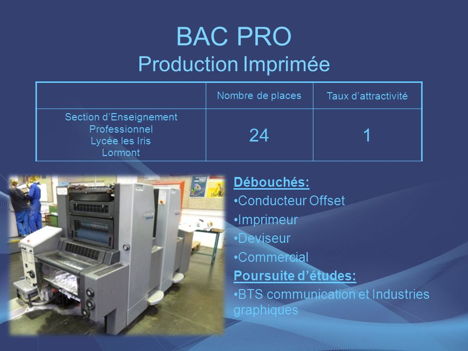 BAC PRO Production Imprimée
