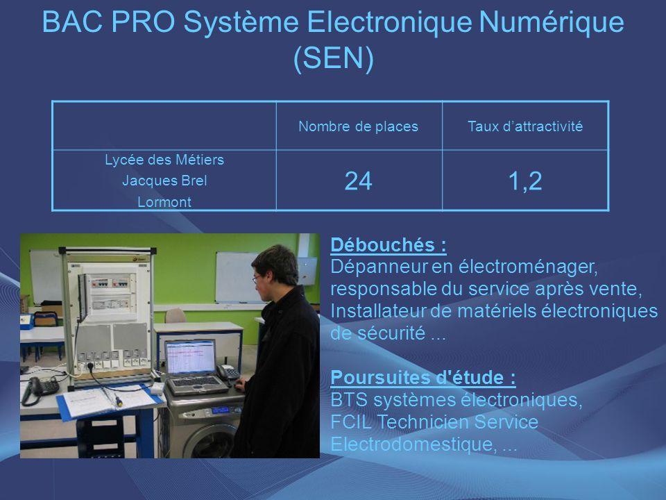 BAC PRO Système Electronique Numérique (SEN)