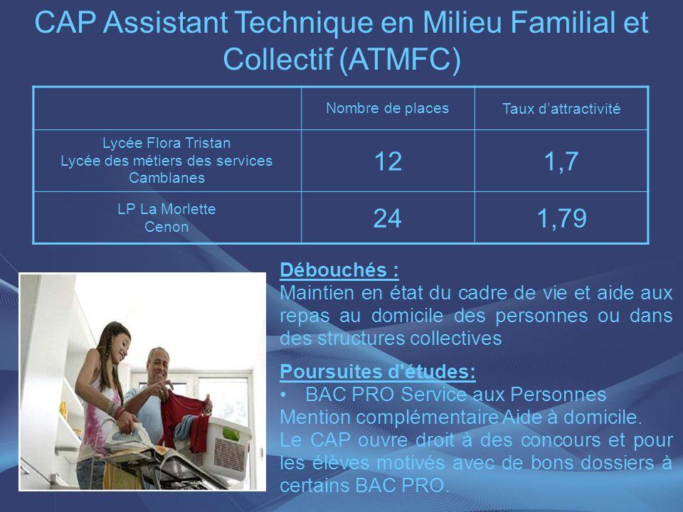 CAP Assistant Technique en Milieu Familial et Collectif (ATMFC)