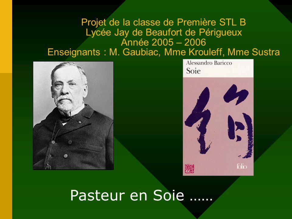 Projet de la classe de Première STL B Lycée Jay de Beaufort de Périgueux Année 2005 – 2006 Enseignants : M. Gaubiac, Mme Krouleff, Mme Sustra