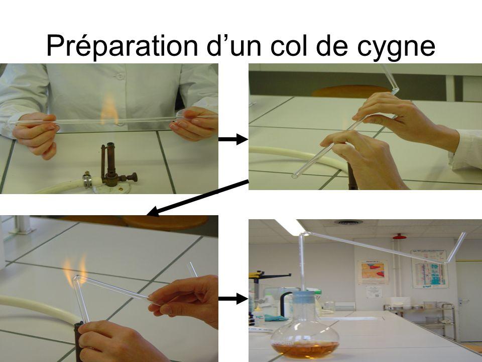 Préparation d'un col de cygne