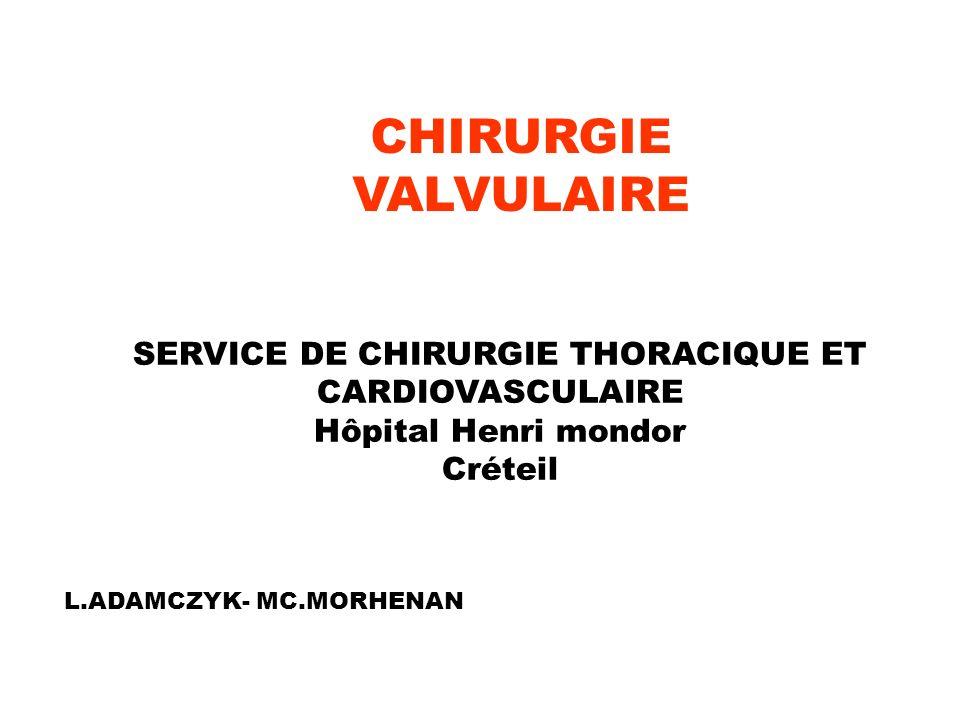 SERVICE DE CHIRURGIE THORACIQUE ET CARDIOVASCULAIRE