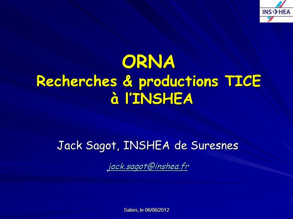 ORNA Recherches & productions TICE à l'INSHEA