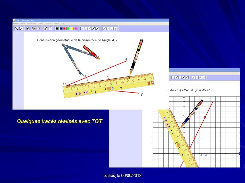 Quelques tracés réalisés avec TGT