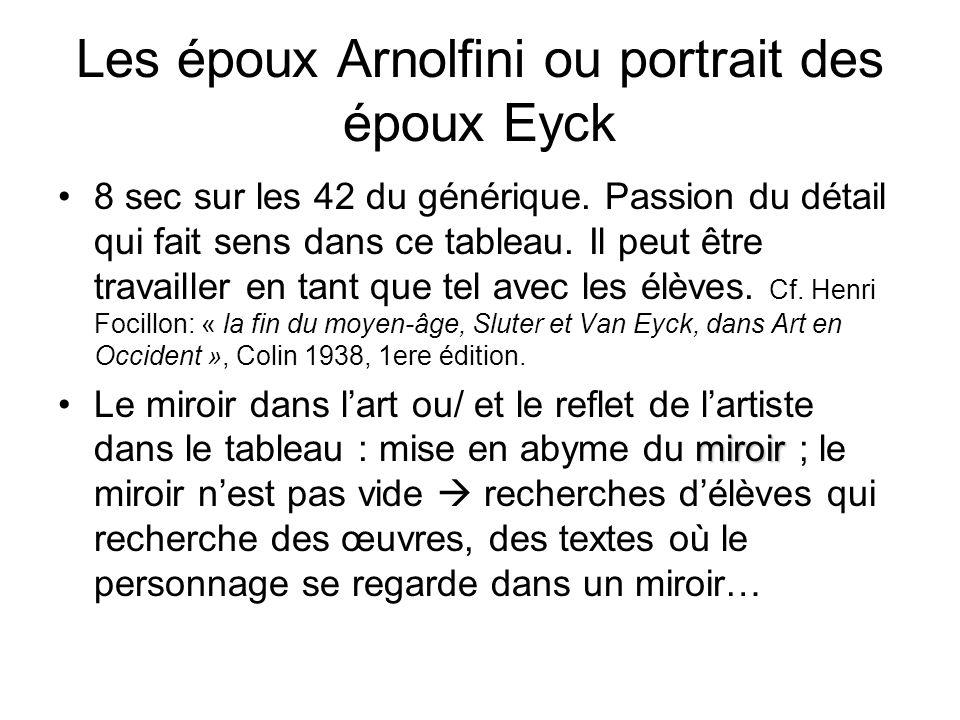 Les époux Arnolfini ou portrait des époux Eyck