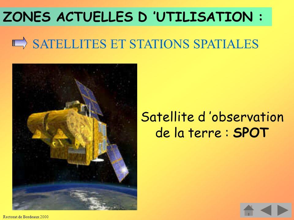 Satellite d 'observation de la terre : SPOT
