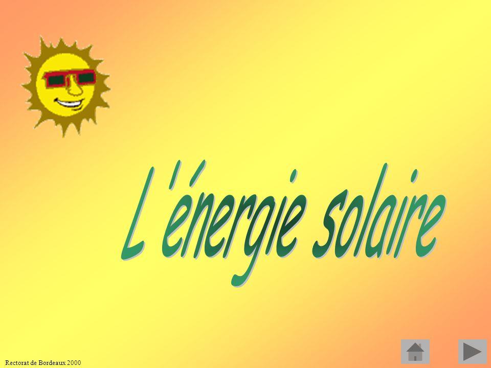 L énergie solaire Rectorat de Bordeaux 2000
