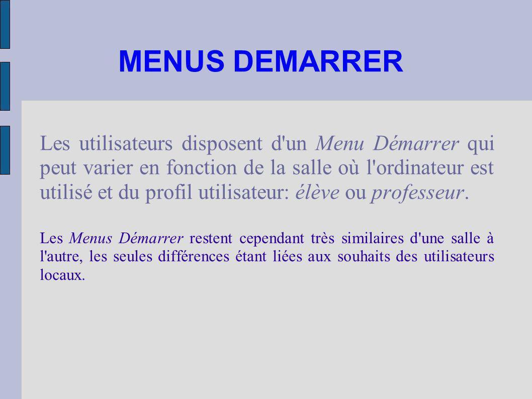 MENUS DEMARRER