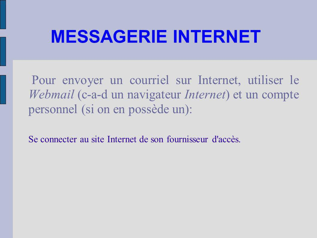 MESSAGERIE INTERNET