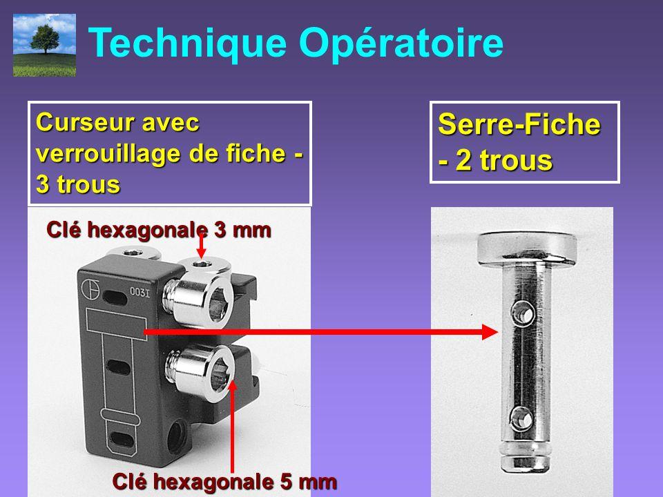 Technique Opératoire Serre-Fiche - 2 trous