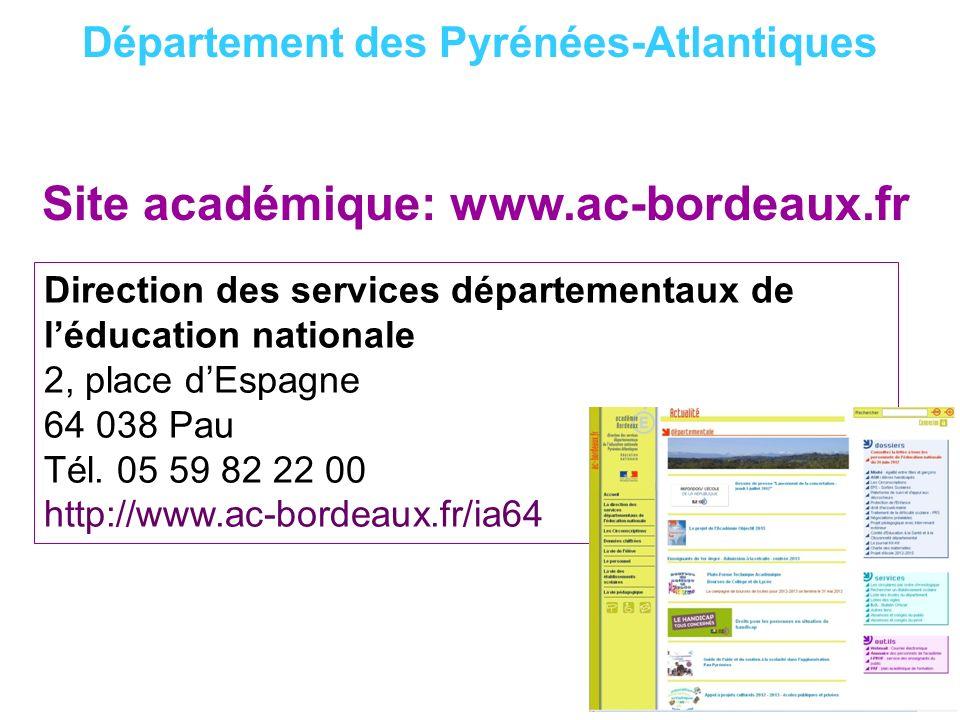 Site académique: www.ac-bordeaux.fr