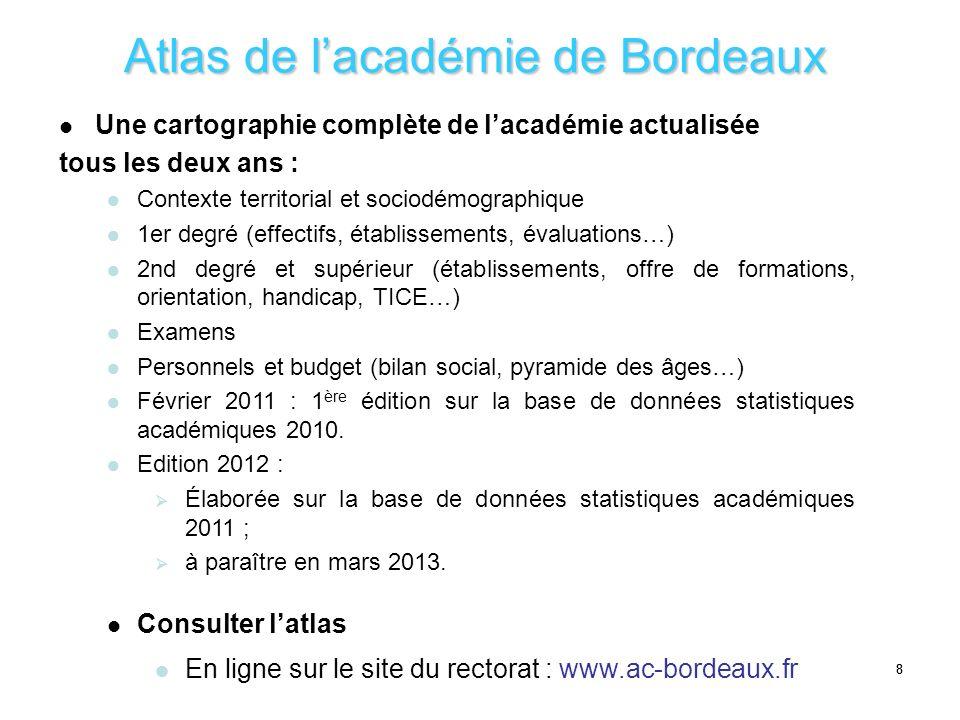 Atlas de l'académie de Bordeaux