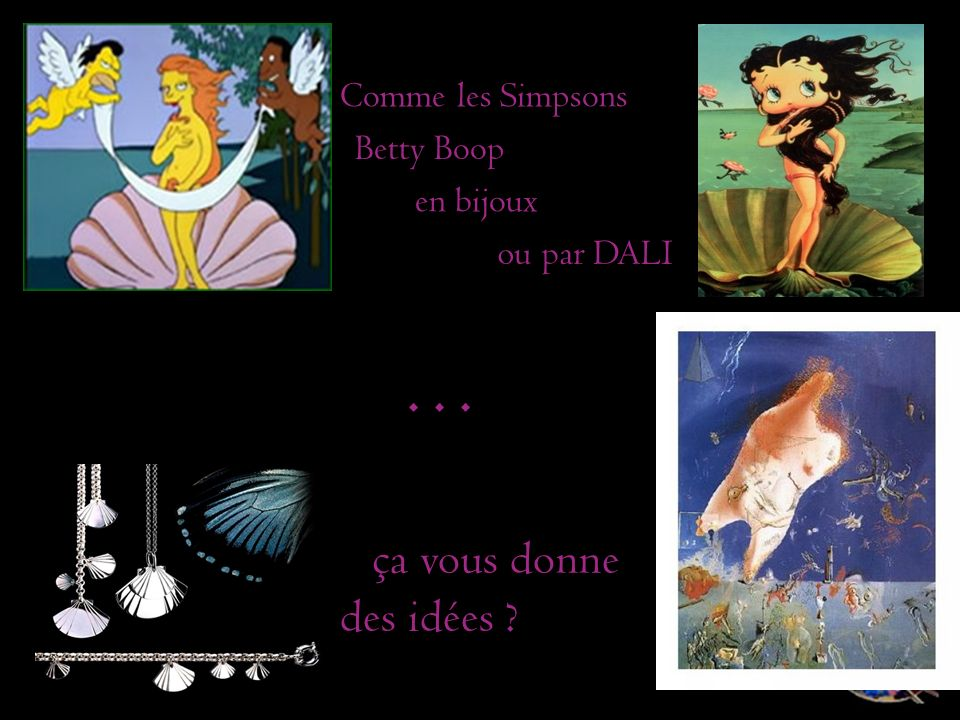 . . . ça vous donne des idées Comme les Simpsons Betty Boop