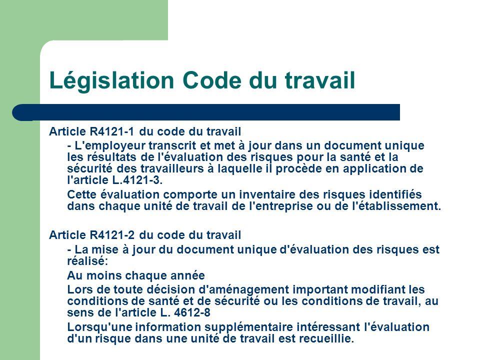 Législation Code du travail
