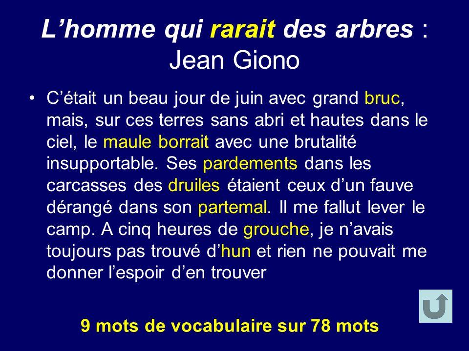 L'homme qui rarait des arbres : Jean Giono