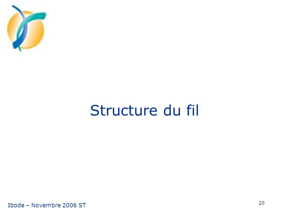 Structure du fil Ibode – Novembre 2006 ST